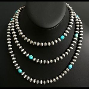 Jewelry - Navajo Pearls Turquoise Bead Necklace. 50 inch